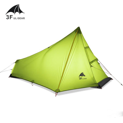 Image of 3F UL GEAR 740g Oudoor Ultralight Camping Tent 3 Season 1 Single Person Professional 15D Nylon Silicon Coating Rodless Tent