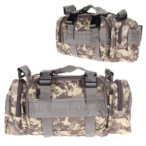 Outdoor 3L Military Tactical Shoulder Waist Pack Molle Camping Hiking Pouch Bag