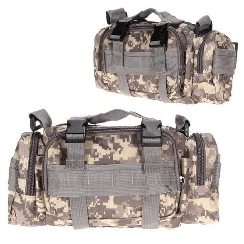 Image of 3L/6L Waterproof Military Tactical Waist Bag Outdoor Pack Oxford Molle Camping Pouch Wallet Backpack Waist Bags
