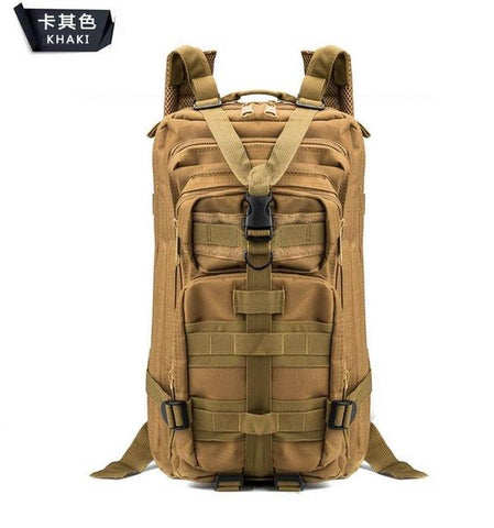 Image of 3P Military Bag Army Tactical Outdoor Camping Men's Military Tactical Backpack Oxford For Cycling Hiking Sports Climbing Bag 25L
