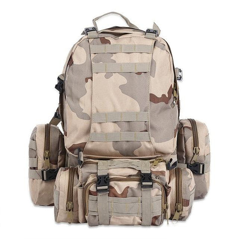50L Multifunction Sport Bag Molle Tactical Bag Water Resistant Camouflage Backpack For Outdoor Climbing Hiking Camping 8 Colors