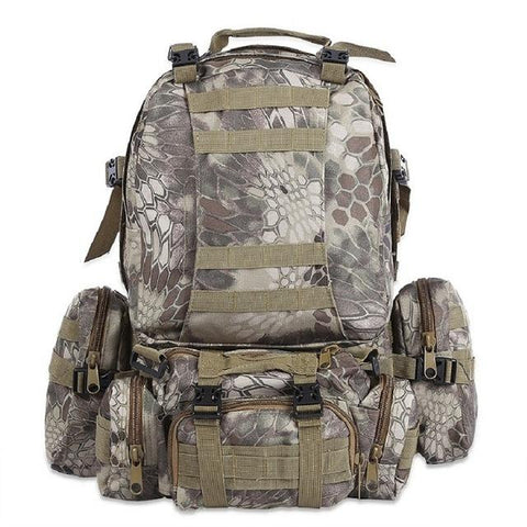 Image of 50L Multifunction Sport Bag Molle Tactical Bag Water Resistant Camouflage Backpack For Outdoor Climbing Hiking Camping 8 Colors