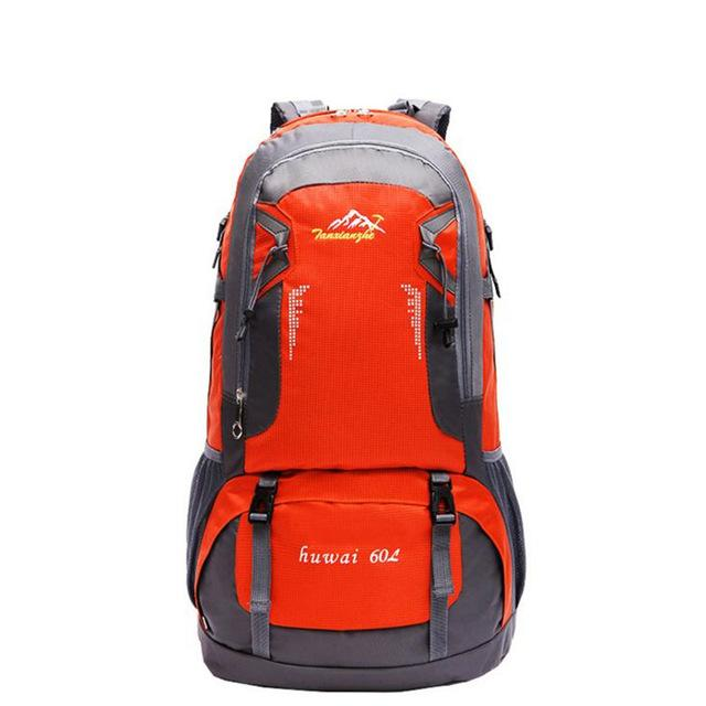 60L Women And Men Large Capacity Mountaineering Backpack Quality Travel Bag Packs Waterproof Nylon Rucksacks