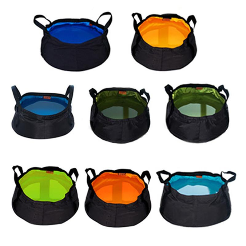 8.5L Camping Folding Bucket Outdoor Water Resistant Container Washbasin Bucket For Hiking Camping Portable Washing Basin Buckets