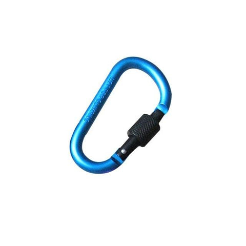 Image of 8cm Aluminum Carabiner D-Ring Key Chain Clip Camping Keyring Snap Hook Outdoor Travel Kit