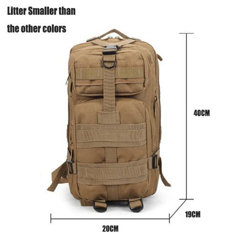Image of 9 Color Unisex Outdoor Military Army Tactical Backpack Trekking Travel Rucksack Camping Hiking Trekking Camouflage Bag