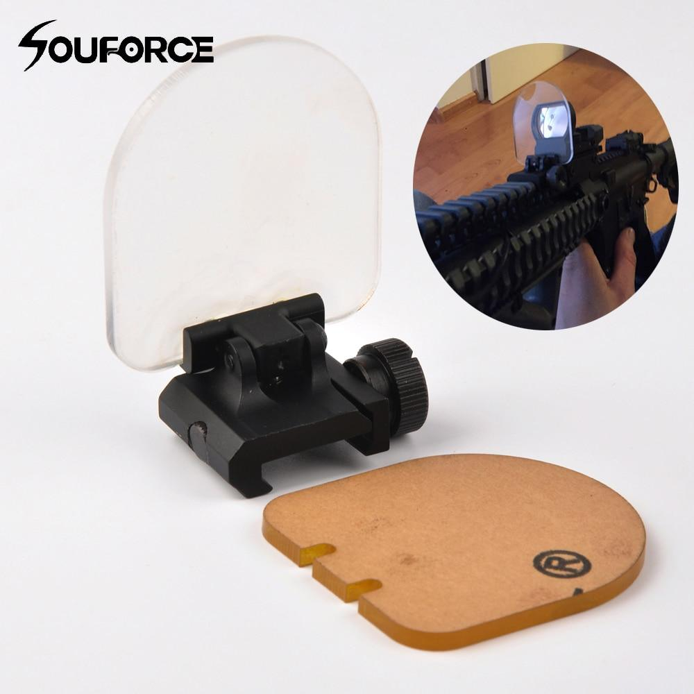 Airsoft Sight Scope Lens Screen Protector Cover Shield Panel 20mm Rail Mount For Rifle Scope Sight