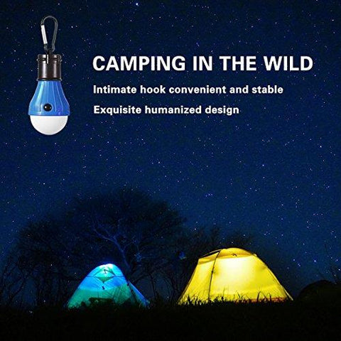 Aitey Camping Light, LED Camping Lantern, Portable Waterproof Tent Light, Storms, Hiking, Fishing, Emergency Light Battery Powered Lamp For Outdoor And Indoor - 4 Pack