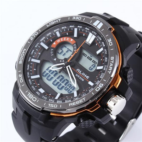 ALIKE Casual Watch Men G Style Waterproof Sports Military Watches Shock Men's Luxury Analog Digital Quartz Watch