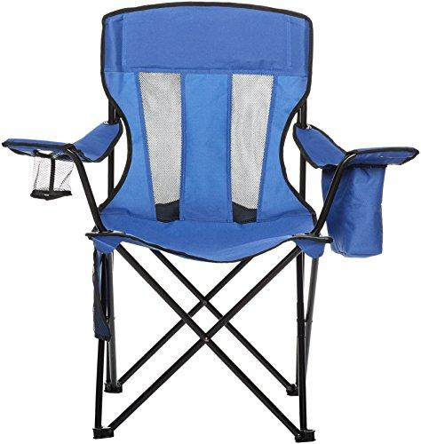 AmazonBasics Camping Chair With Cooler, Blue (Mesh)