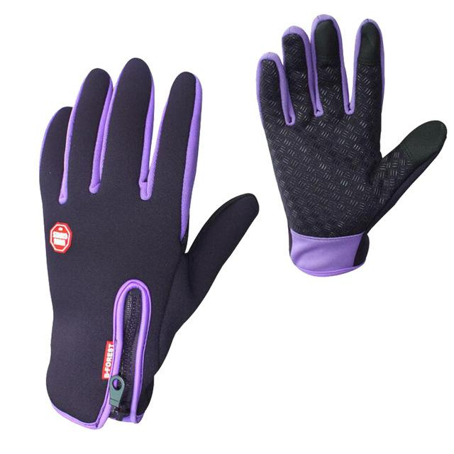 Anti-slip Motorcycle Bike Gloves Warm Mountain Road Cycling Gloves Touch Screen Anti-shock Full Finger Bicycle Gloves