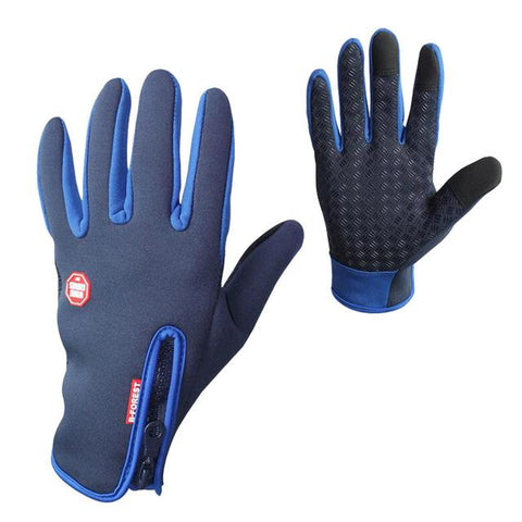 Image of Anti-slip Motorcycle Bike Gloves Warm Mountain Road Cycling Gloves Touch Screen Anti-shock Full Finger Bicycle Gloves