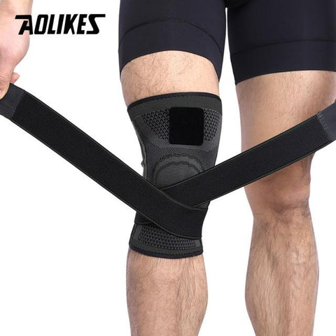 Image of AOLIKES 1PCS 2018 Knee Support Professional Protective Sports Knee Pad Breathable Bandage Knee Brace Basketball Tennis Cycling