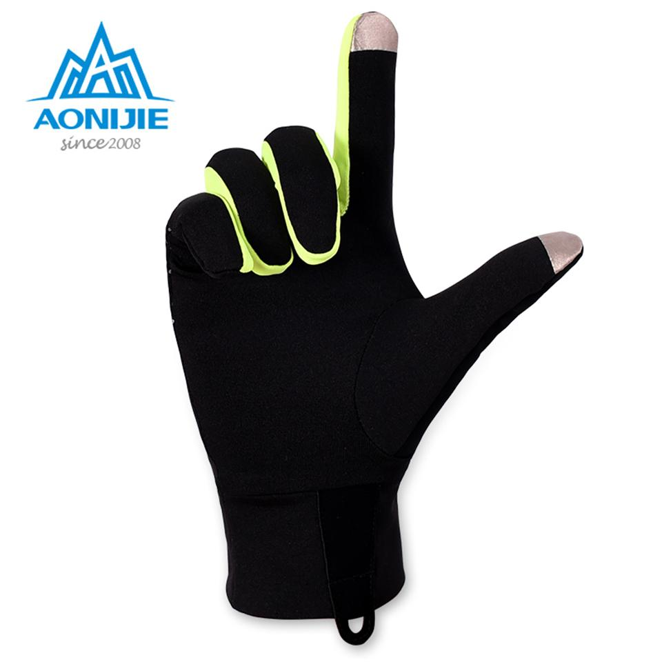 AONIJIE Outdoor Sports Gloves Men Women Warm Windproof Cycling Hiking Climbing Running Ski Full Finger Screen Gloves