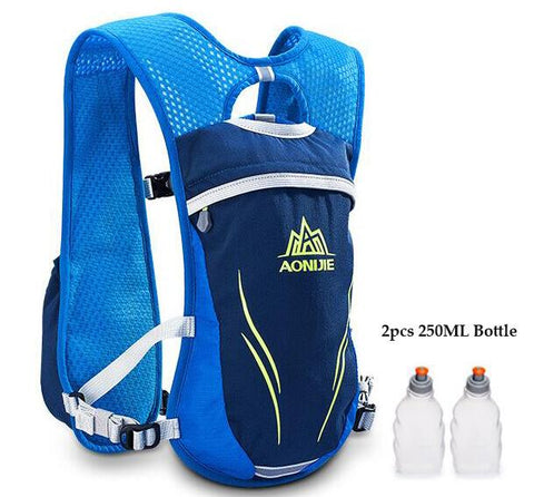 Image of AONIJIE Running Marathon Hydration Nylon 5.5L Outdoor Hiking Backpack Vest Marathon Cycling Backpack