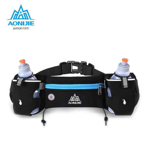 Image of AONIJIE Running Waist Pack Outdoor Sports Hiking Racing Gym Fitness Lightweight Hydration Belt Water Bottle Hip Bag