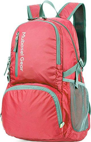Backpack - Durable Packable Lightweight Backpacks For Travel Hiking - Daypack For Women Men (Fuchsia)