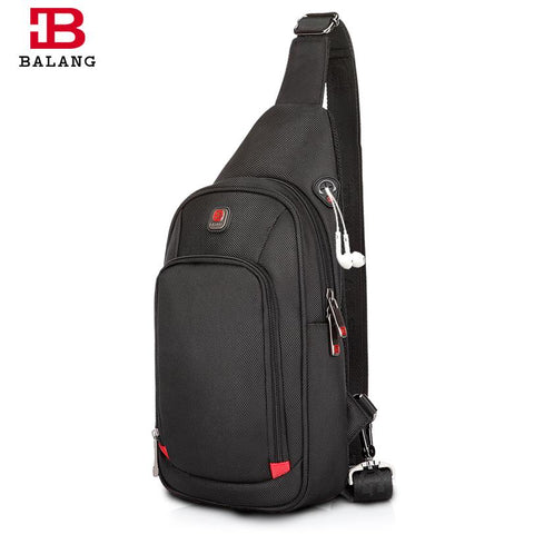 Image of BALANG Crossbody Bags For Men Messenger Chest Bag Pack Casual Bag Waterproof Nylon Single Shoulder Strap Pack