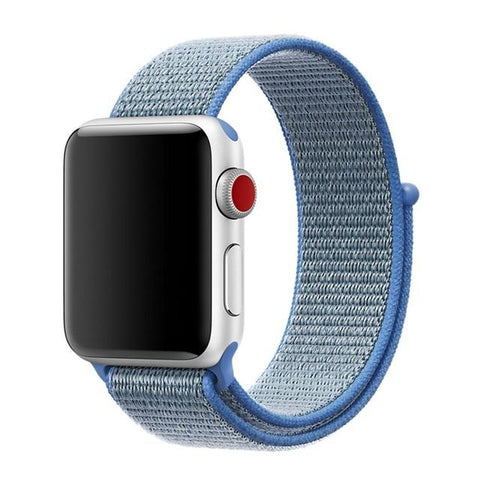 Image of Band For Apple Watch Series 3/2/1 38MM 42MM Nylon Soft Breathable Replacement Strap Sport Loop For Iwatch Series 4 40MM 44MM
