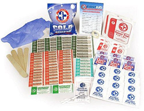 Image of Be Smart Get Prepared 100 Piece First Aid Kit, Clean, Treat And Protect Most Injuries With The Kit That Is Great For Any Home, Office, Vehicle, Camping And Sports. 0.71 Pound