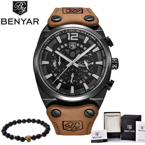 Image of BENYAR Mens Watches Military Army Brand Luxury Sports Casual Waterproof Male Watch Quartz Stainless Steel Man Wristwatch XFCS