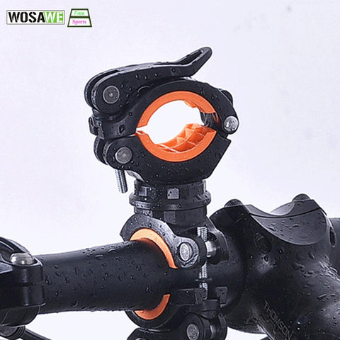 Image of Bicycle Flashlight Clip Universal Mountain Road Bike Handlebar Torch Holder Cycling Lamp Air Pump Bracket Accessories