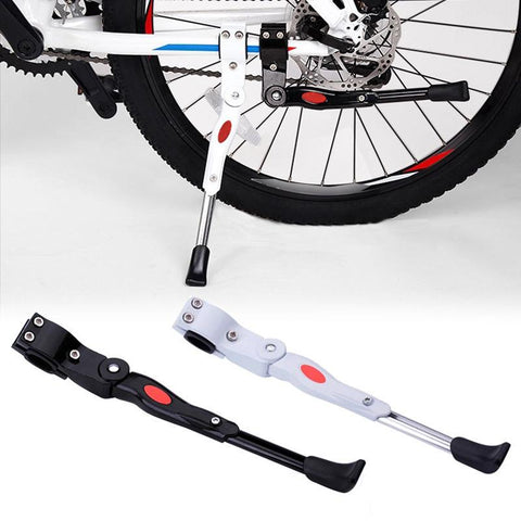 Image of Bicycle Parking Rack Bike Kickstand Adjustable Mountain Bike Cycle Prop Side Rear Kick Stand Bicycle Accessories