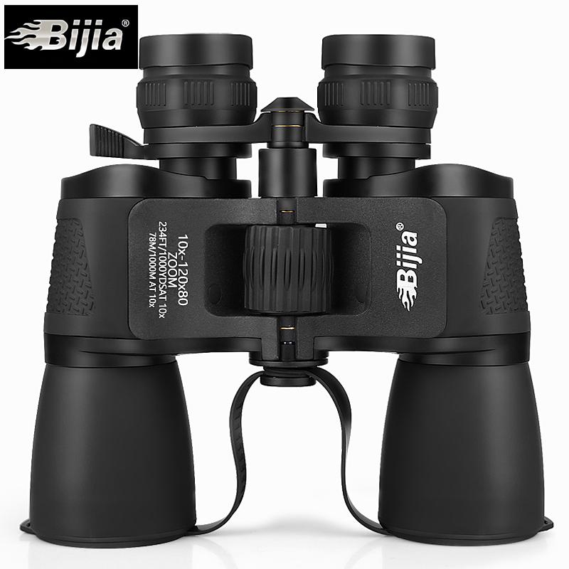 BIJIA 10-120X80 Long Range Zoom Hunting Telescope Professional Binoculars High Definition Waterproof