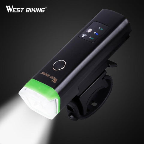 Image of Bike Front Light Induction Bicycle Bright Light USB Charging Flashlight Cycling Waterproof Torch Bike Headlight