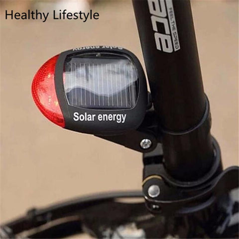 Image of Bike Light Solar Powered LED Rear Flashing Tail Light For Cycling Lamp Safety Warning Flashing Light Accessories