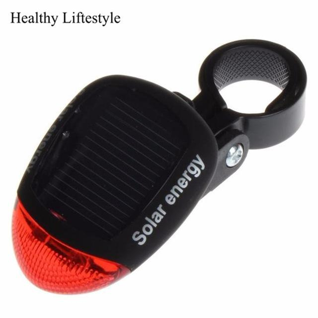 Bike Light Solar Powered LED Rear Flashing Tail Light For Cycling Lamp Safety Warning Flashing Light Accessories