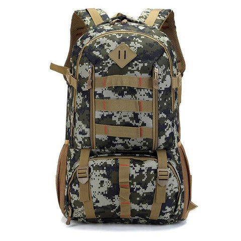 Image of Bucbon Camo Tactical Backpack Military Army Mochila 50L Waterproof Hiking Hunting Backpack Tourist Rucksack Sports Bag