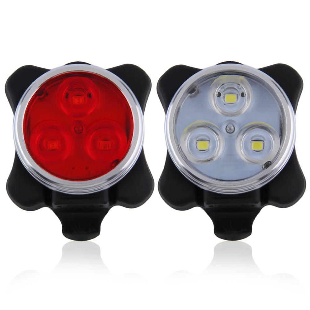 Built-in Battery Bicycle Tail Light Rechargeable USB Flashlight Bike Accessories