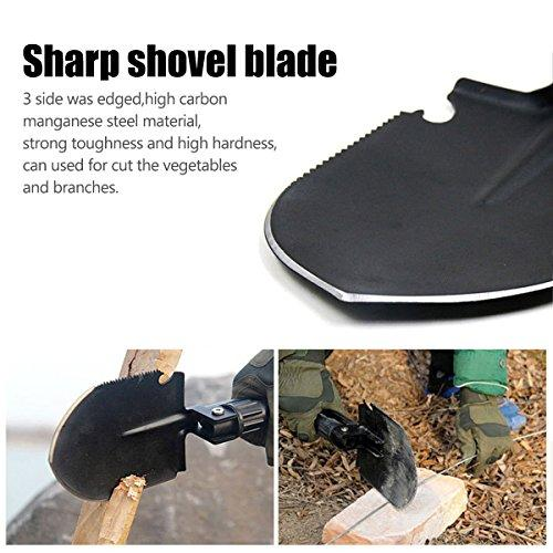 Camping Gardening Shovel Multitool, CHINLIN Portable Multi-function Folding Heavy Duty Shovel Non-slip Anti-rust For Backyard Outdoor Survivals
