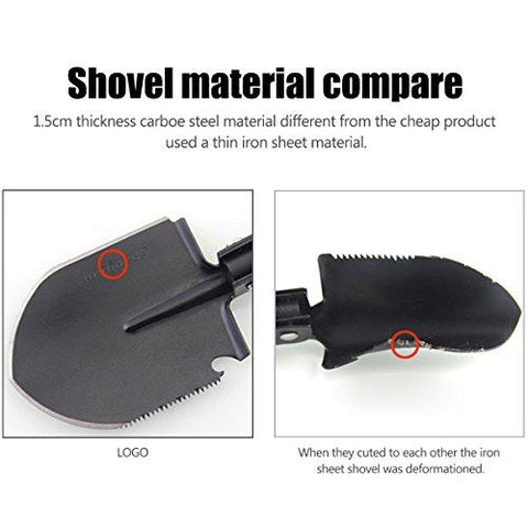 Image of Camping Gardening Shovel Multitool, CHINLIN Portable Multi-function Folding Heavy Duty Shovel Non-slip Anti-rust For Backyard Outdoor Survivals