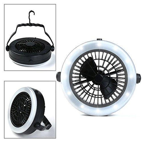 Camping Lantern With Ceiling Fan LED Tent Light Fan For Outdoor Camping Hiking Fishing