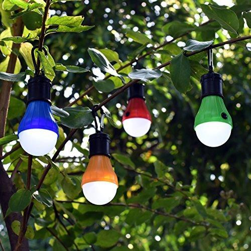 Camping Light 4 Pack Portable LED Tent Lantern Bulb 3 Modes Battery Powered For Backpacking Camping Hiking Fishing Emergency And Outdoor Adventures