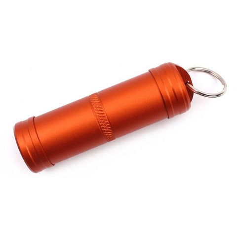 Image of Camping Survival Waterproof Pills Box Container Aluminum Medicine Bottle Keychain Outdoor Emergency Gear EDC Travel Kits Tool