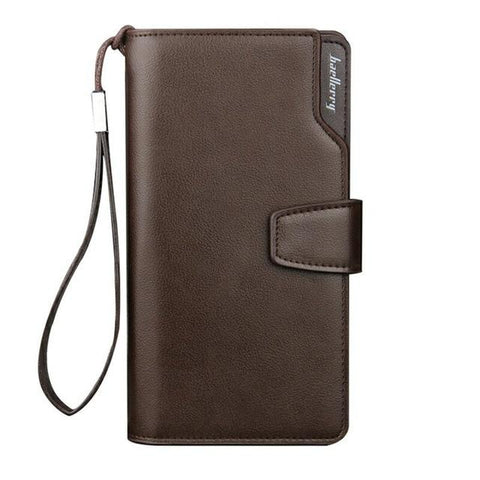 Image of Card Holder Leather Wallet Men Long Design Quality Passport Cover Fashion Casual Mens Purse Zipper Multi-function Coin Purse 7X