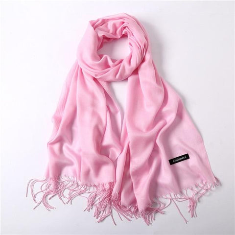 Image of Classic Summer Scarves For Women Scarves And Wraps Fashion Solid Female Hijab Pashmina Winter Cashmere Scarves Foulard