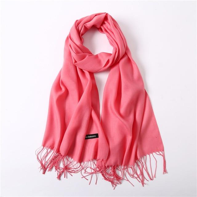 Classic Summer Scarves For Women Scarves And Wraps Fashion Solid Female Hijab Pashmina Winter Cashmere Scarves Foulard
