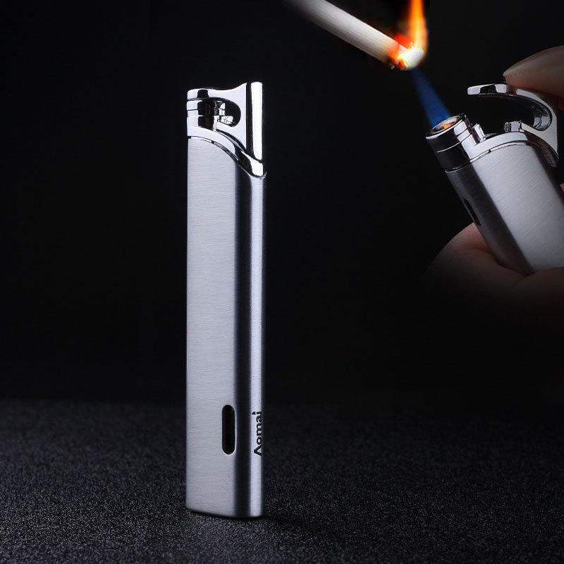 Compact Jet Butane Lighter Torch Turbo Gas Cigarette 1300 C Fire Windproof Stripe Pipe Lighter No GAS