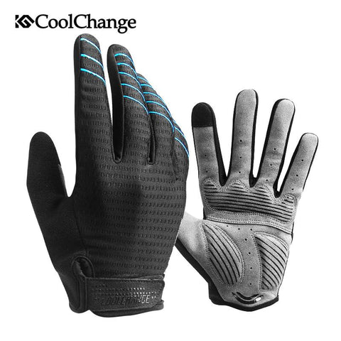Image of CoolChange Cycling Gloves Full Finger Sport Shockproof MTB Bike Touch Screen Gloves Man Woman Bicycle Sponge Long Finger Glove