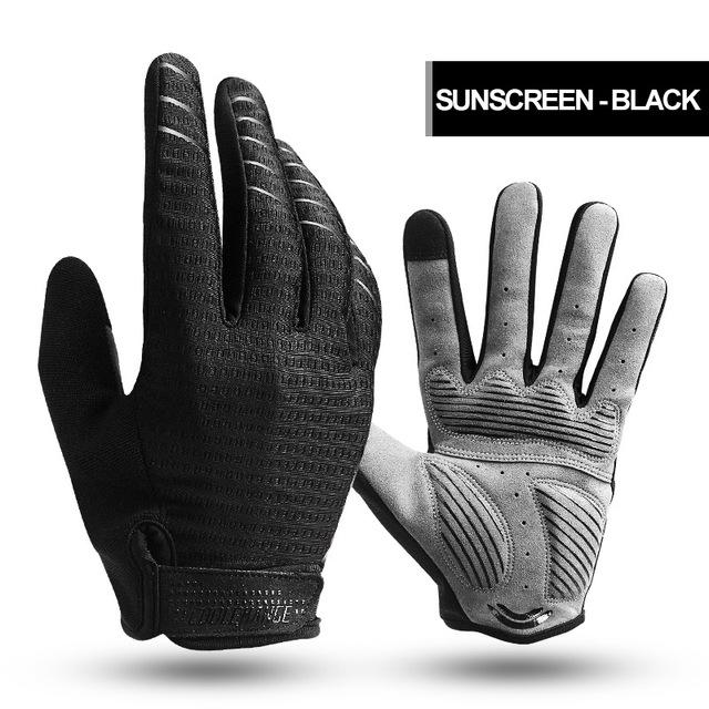 CoolChange Cycling Gloves Full Finger Sport Shockproof MTB Bike Touch Screen Gloves Man Woman Bicycle Sponge Long Finger Glove
