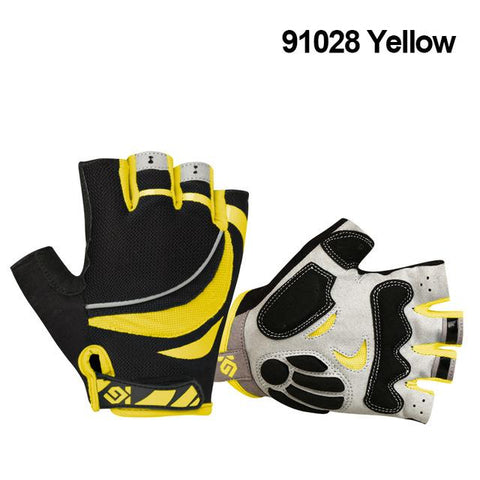 Image of CoolChange Cycling Gloves Half Finger Mens Womens Summer Sports Shockproof Bike Gloves GEL MTB Bicycle Gloves