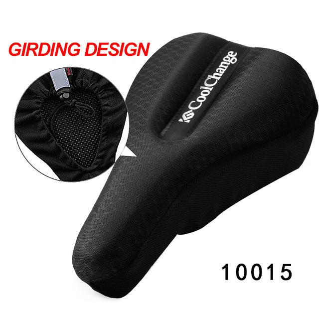 CoolChange Cycling In The Back Seat Cushion Cover Thick Sponge Mountain Road Bike Saddle Seat Bicycle Equipment Accessories