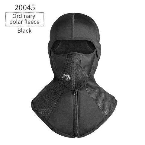 Image of CoolChange Winter Cycling Face Mask Cap Ski Bike Mask Thermal Fleece Snowboard Shield Hat Cold Headwear Bicycle Training Mask