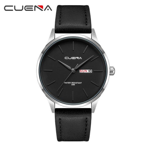 Image of CUENA Fashion Quartz Watches Men Luxury Brand Waterproof Leather Strap Men's Wrist Watch Relogio Masculino Male Clocks Man