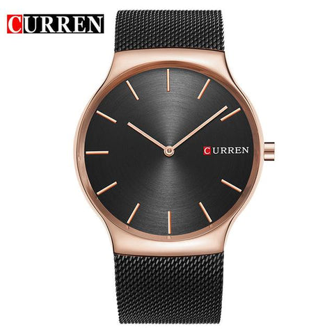 Image of CURREN Black Rose Gold Pointer Relogio Masculino Luxury Brand Analog Sports Wristwatch Quartz  Business Watch Men  8256