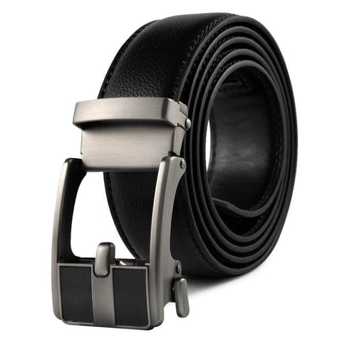 Image of Designer Mens Belts Luxury Real Leather Belts For Men Metal Buckle Man Jeans Pants Genuine Leather Belt Male S